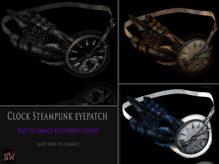 ! [NW] Clock steampunk eyepatch