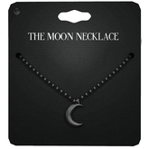 Amala - The Moon Necklace - Black