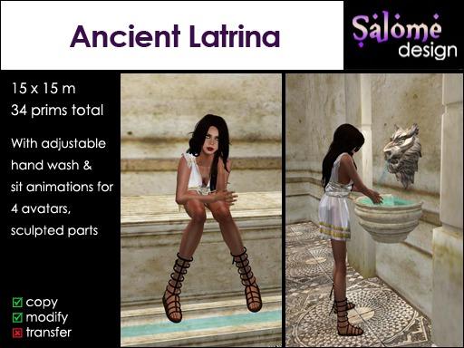 Ancient Latrina /  Toilet / WC