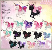Birdy - Unicorn - Goth Pink RARE