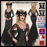 Die Fledermaus (the bat!) Gown and Accessories by Moonstar T
