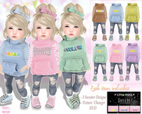 * {.:Little Stars.:} * Elise - Pink Outfit w/texture hud
