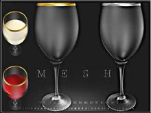 T-3D Creations [ Metal Line Wine Glass ]  MESH - Full Perm -