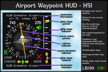airport waypoint HUD - HSI (boxed)