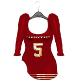 #Addiction-Jersey Dress[Red]