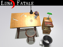 "Couples Animated Office Desk ""Craftsman"" Styling"