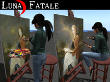 """Animated Artist & Model """"Paint Me"""" Easel+ (stand & sit)"""