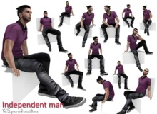 <K&S> Independent man. 14 poses. FULL PERM