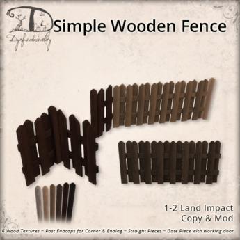 [DDD] Simple Wooden Fences