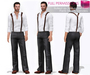 %50SUMMERSALE Meli Imako Full Perm Mesh Men's Rolled Up Sleeve Shirt And Pants With Suspenders