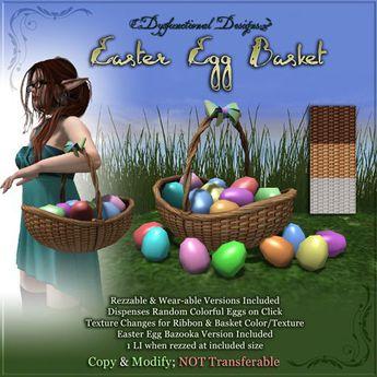 [DDD] Easter Basket /w Bazooka Fun Egg Throwing Game