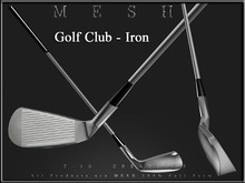 T-3D Creations [ Golf Club - Iron ] Micro and Regular MESH - Full Perm -