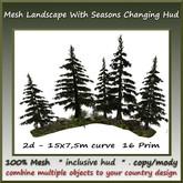 2d Mesh Garden/Landsc. Saisons Set 15x7,5m curve