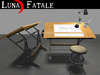 "Couples Animated Drafting Table ""Cast Iron"" Reproduction"