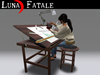 "Couples Animated Drafting Tables ""Shaker"" Styling"