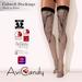 Ad   cobweb stockings   black on white