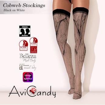 AVICANDY Cobweb - Black on White