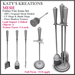 FULL PERM MESH Fire Irons - Finlay. Mesh Companion Set