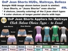 Onp both hud jean shorts for mesh maitreya lara body