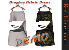 REAL FASHION Draping fabric dress - DEMO