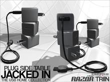 Razor/// USB Jacked In - Side Table