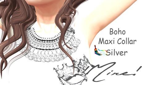 !MIRE! Boho Maxi Collar (Silver)
