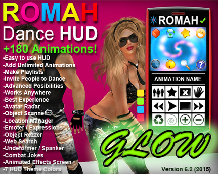 ROMAH Dance HUD GLOW ++180 MOCAP Dances!