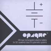Opaque Computing Rechargeable Alkaline Battery