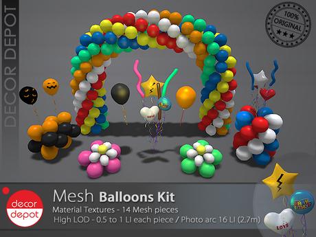 [DD] - FULL PERM  Balloons Kit