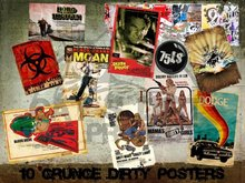 10 GRUNGE DIRTY POSTERS