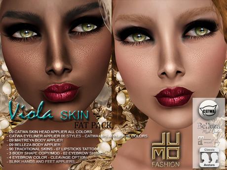 .:JUMO:. Viola Skin Fat Pack - Catwa Heads