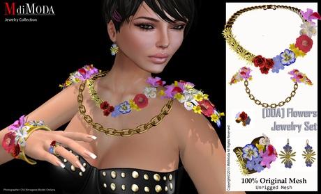 MdiModa - [00E] Flower Jewelry Set