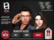 (epia) - 'Rolmaster' Glasses - ON SALE