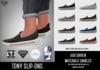 BLACK FRIDAY SALE - ILLI - [SLink,MeshProject Men,Classic,Aesthetic] Tony Slip-ons (HUD Driven)