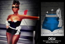 """""""DEW"""" Micro Pants blue /with appliers"""