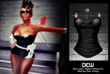 """""""DEW"""" Straplese Top black /with appliers"""