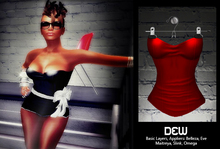 """""""DEW"""" Straplese Top red /with appliers"""
