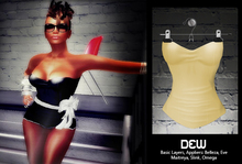 """""""DEW"""" Straplese Top tan /with appliers"""