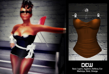 """""""DEW"""" Straplese Top brown /with appliers"""