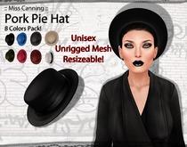 :: Miss Canning ::[ Pork Pie Hat ] 8 Colors Pack! Unisex
