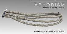 !APHORISM! Montmartre Beaded Belt White