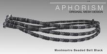 !APHORISM! Montmartre Beaded Belt Black
