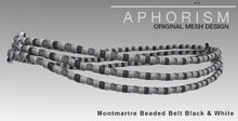 !APHORISM! Montmartre Beaded Belt Black & White