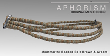 !APHORISM! Montmartre Beaded Belt Brown & Cream White