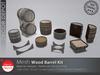 [DD] - FULL PERM  Wood Barrels Kit