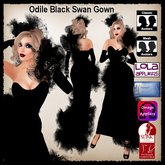 Odile Black Swan Gown, Shoes and Bracelets by Moonstar T