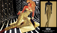 """""""DEW"""" OUTLET /Catsuit leopard with appliers"""