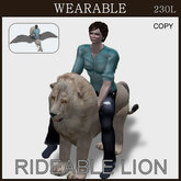 [TomatoPark] Wearble Lion ( riding pose )
