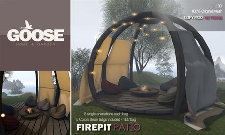 GOOSE - Firepit patio full set
