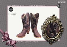 shine by [ZD] - MESH - Vintage Cowboy Boots - Brown